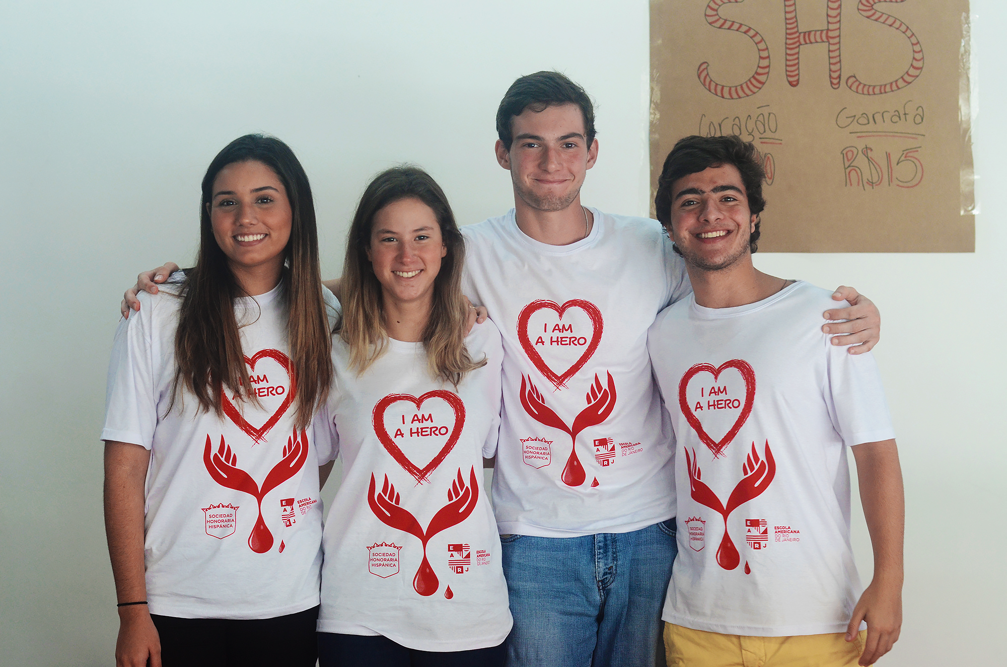 EARJ students in the Blood Drive campaign for blood donation