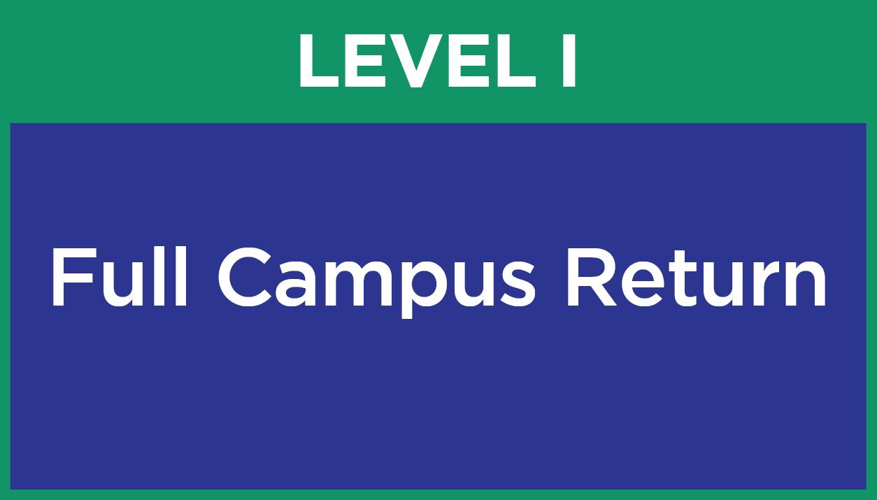 Level I - Full Campus Return
